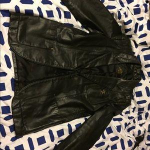 etienne aigner leather jacket